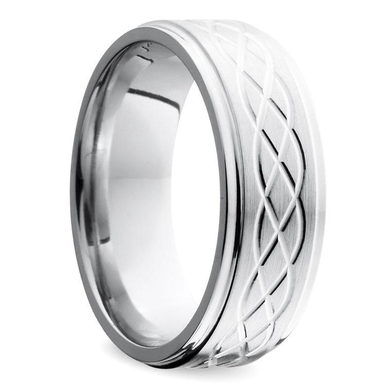 Step Edge Celtic Men's Wedding Ring in Cobalt (10 mm) | 02