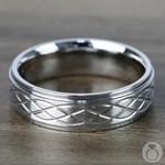 Step Edge Celtic Men's Wedding Ring in Cobalt (7 mm) | Thumbnail 03
