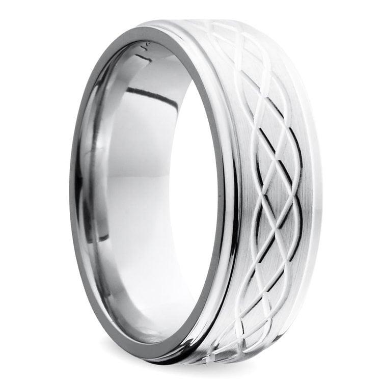 Step Edge Celtic Men's Wedding Ring in Cobalt (7 mm) | 02