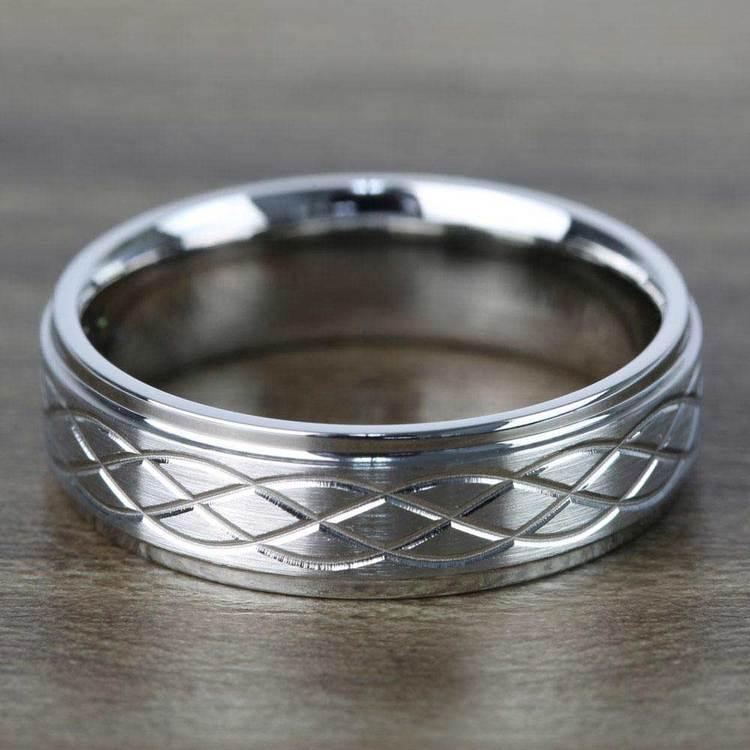 Step Edge Celtic Men's Wedding Ring in Cobalt (7 mm)   03