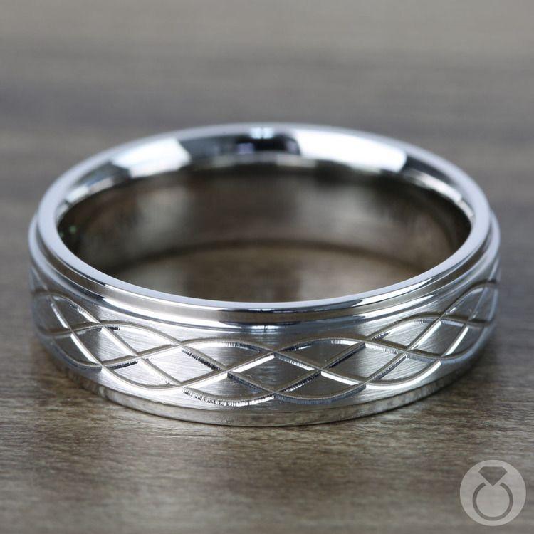 Step Edge Celtic Men's Wedding Ring in Cobalt (7 mm) | 03