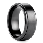 Step Edge Men's Wedding Ring in Black Titanium | Thumbnail 02