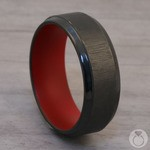The Marine - Zirconium & Red Cerakote Mens Band | Thumbnail 04