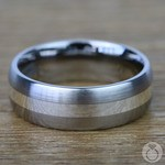 Sterling Silver Inlay Men's Wedding Ring in Titanium (7mm) | Thumbnail 03
