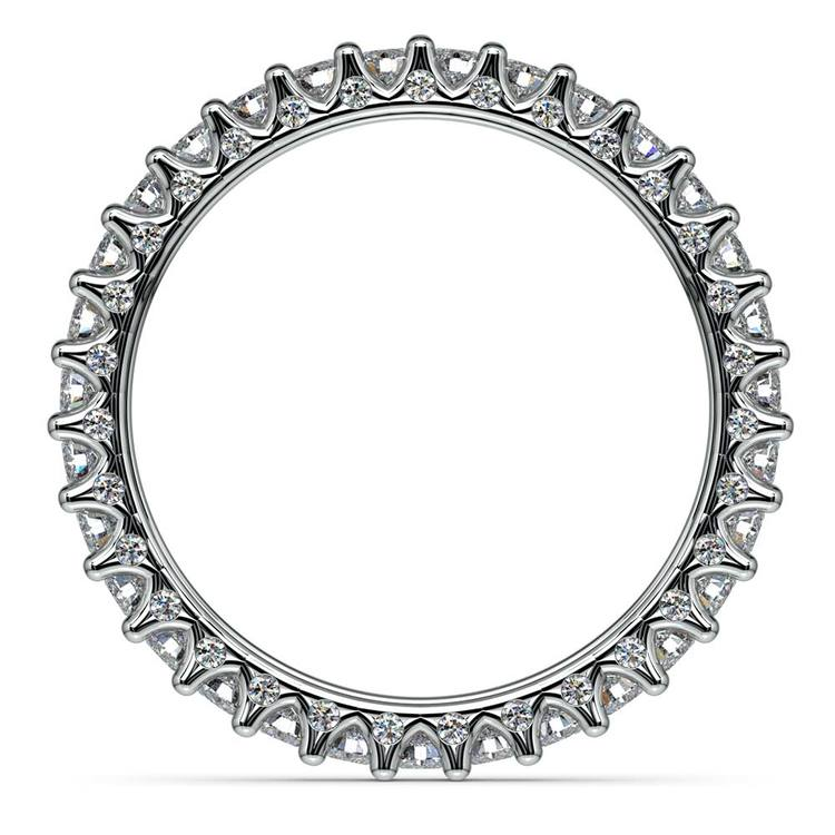 Sunburst Diamond Eternity Band in Platinum | 03