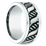 Double Helix Swirl Men's Wedding Ring in Blackened Cobalt | Thumbnail 02