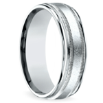 Swirl Milgrain Men's Wedding Ring in Palladium | Thumbnail 02