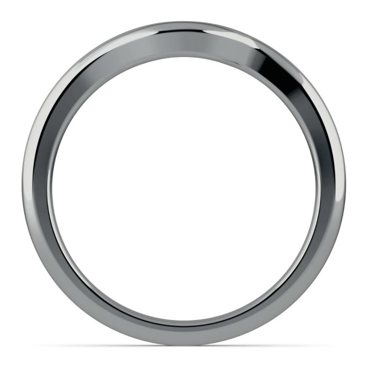 Swirl Style Wedding Ring in Palladium | 03