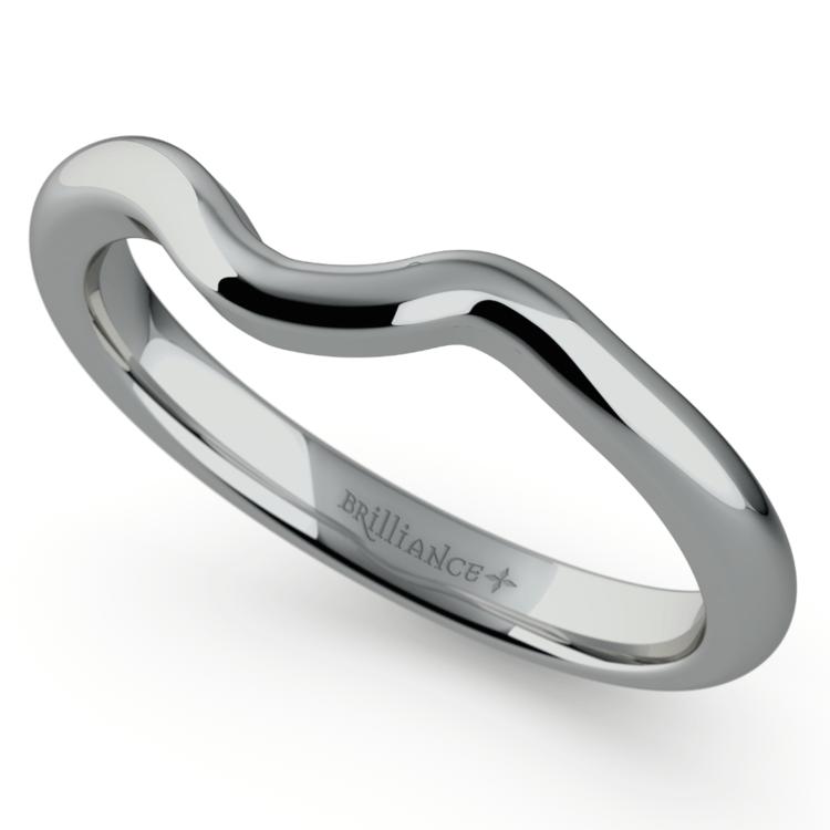 Swirl Style Wedding Ring in Palladium | 01