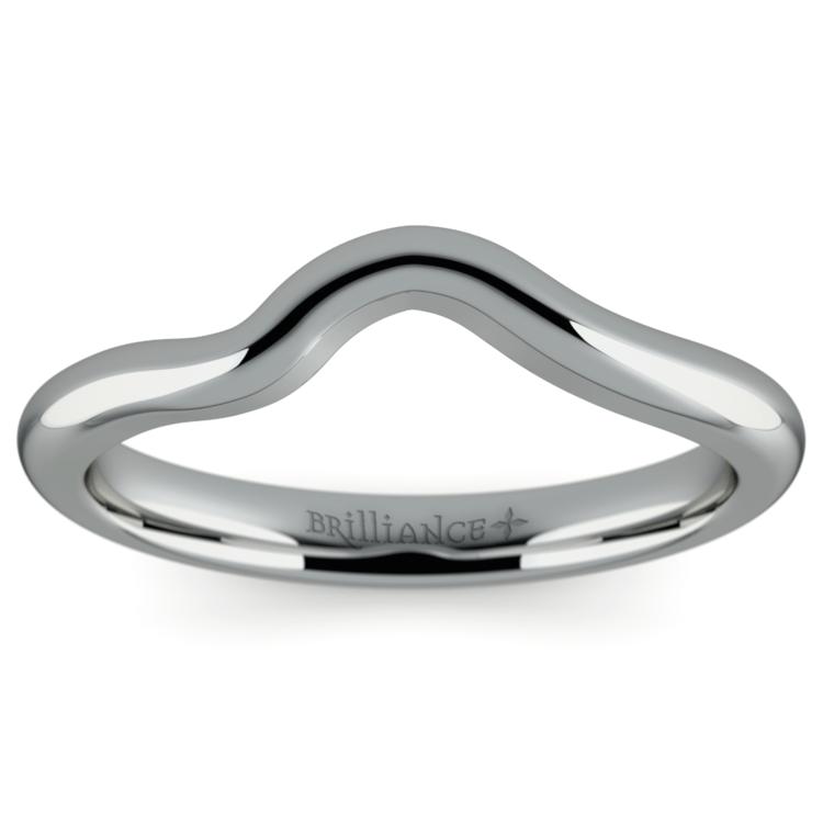 Swirl Style Wedding Ring in Platinum | 02