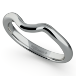 Swirl Style Wedding Ring in White Gold | Thumbnail 01