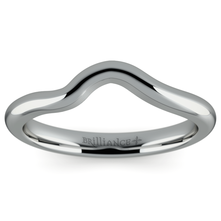 Swirl Style Wedding Ring in White Gold | 02