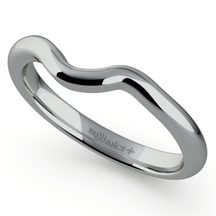 Swirl Style Wedding Ring in White Gold | 01