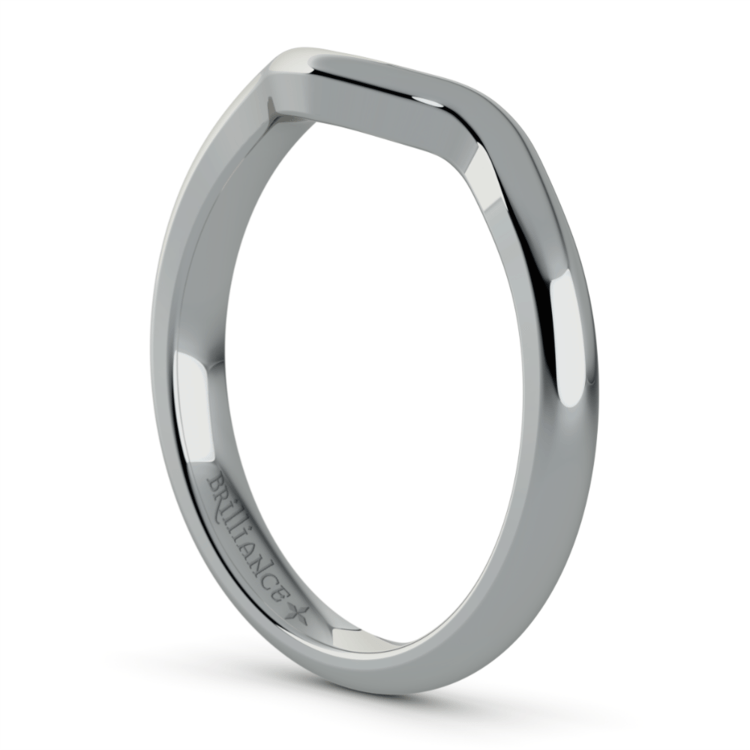 Swirl Style Wedding Ring in White Gold | 05