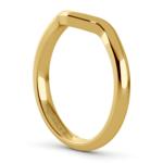 Swirl Style Wedding Ring in Yellow Gold | Thumbnail 05