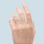 Swirl Style Wedding Ring in Yellow Gold   Thumbnail 06