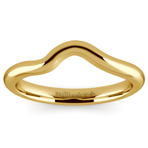 swirl style wedding ring in yellow gold - Yellow Gold Wedding Rings