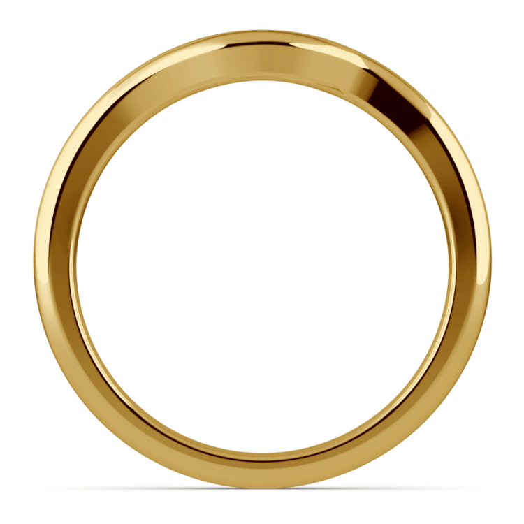 Swirl Style Wedding Ring in Yellow Gold | 03
