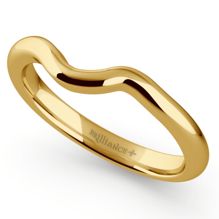 Swirl Style Wedding Ring in Yellow Gold | 01