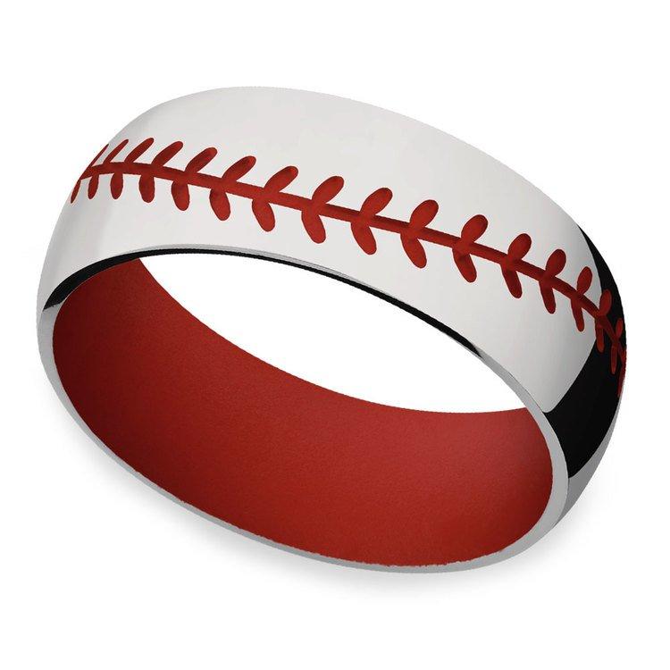 Take Me Home - Mens Baseball Wedding Band | 01