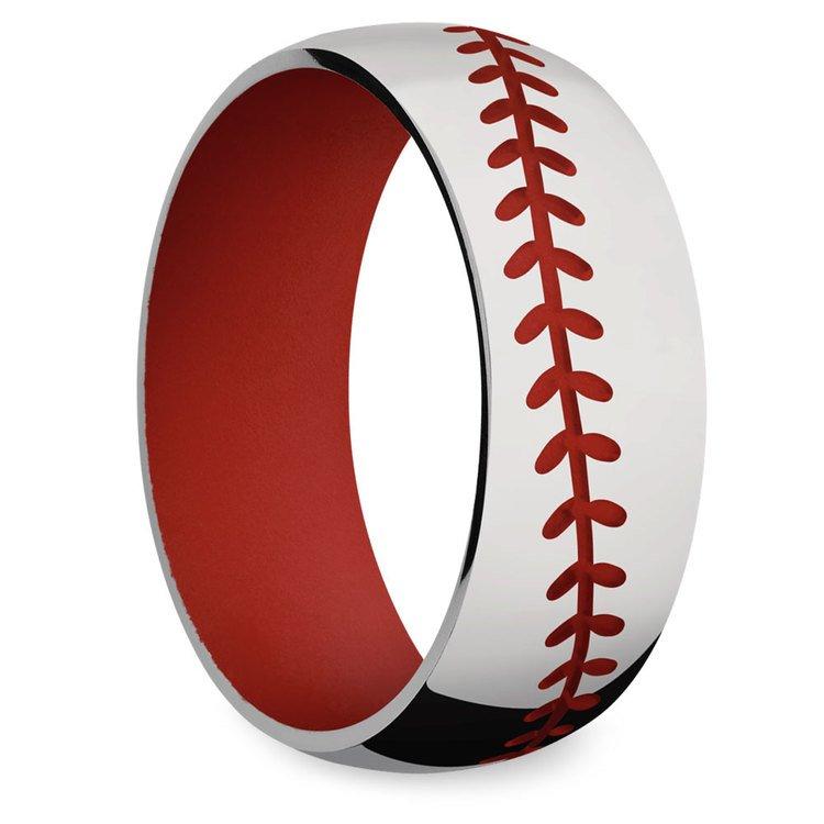Take Me Home - Mens Baseball Wedding Band | 02