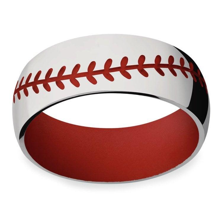 Take Me Home - Mens Baseball Wedding Band | 03