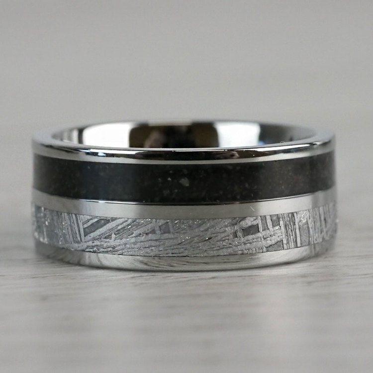 Titanium Dinosaur Bone Meteorite Ring | 07