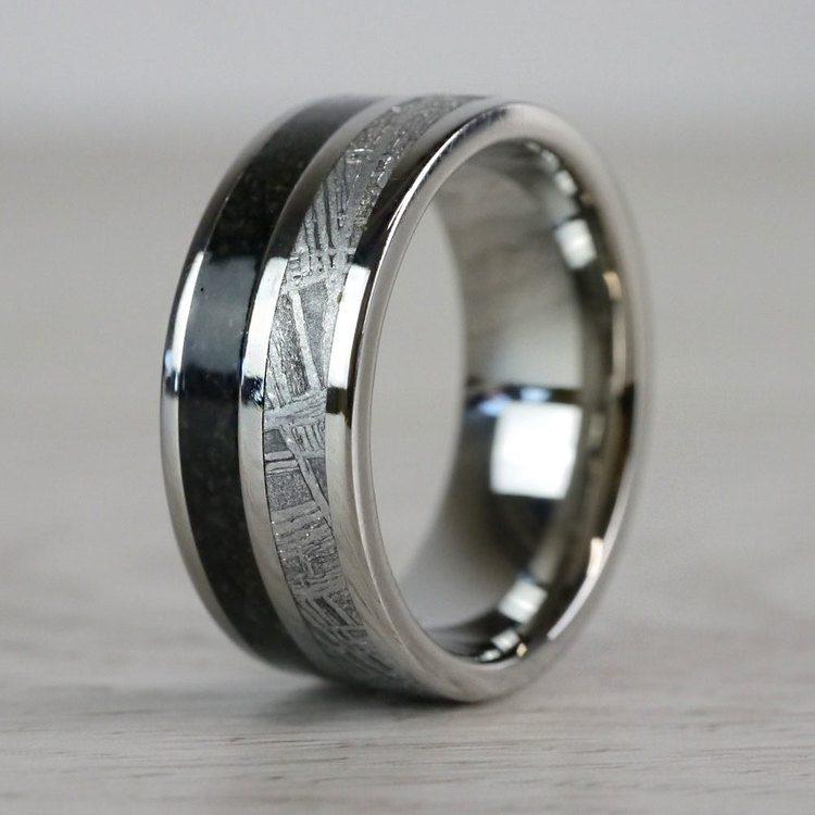 Titanium Dinosaur Bone Meteorite Ring | 06