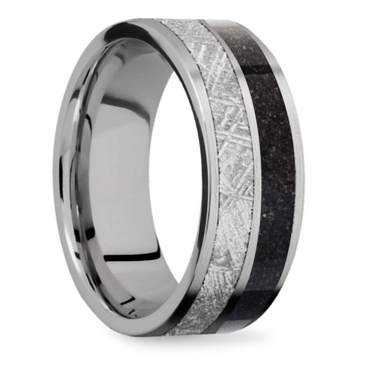 Titanium Dinosaur Bone Meteorite Ring | 02