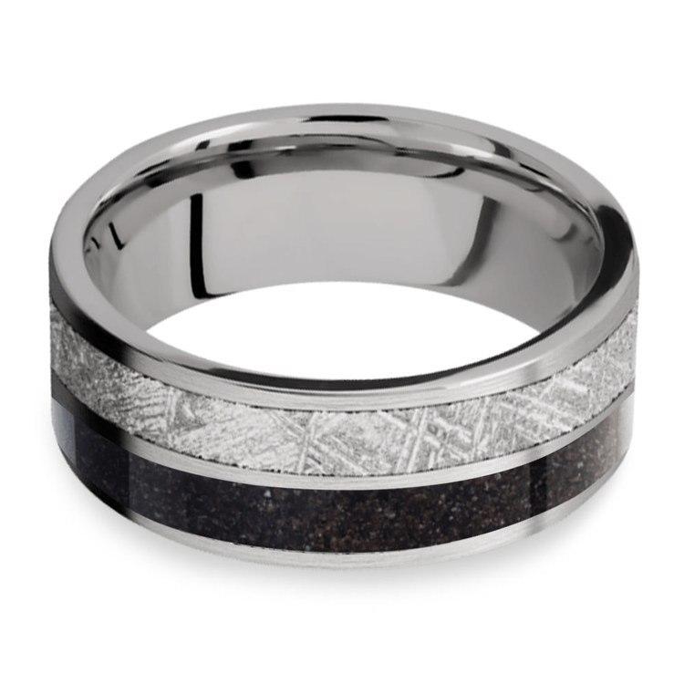 Titanium Dinosaur Bone Meteorite Ring | 03
