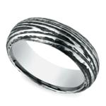 Tree Bark Patterned Men's Wedding Ring in Cobalt | Thumbnail 01