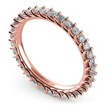 Trellis Diamond Eternity Ring in Rose Gold | Thumbnail 01