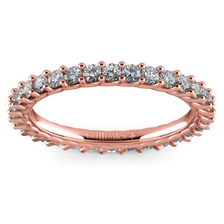 Trellis Diamond Eternity Ring in Rose Gold | 02