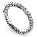 Trellis Diamond Eternity Ring in White Gold | Thumbnail 01