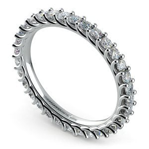 Trellis Diamond Eternity Ring in White Gold