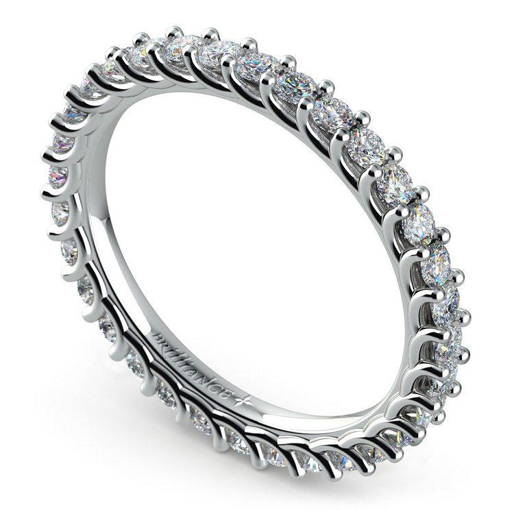 Trellis Diamond Eternity Ring in White Gold | 01