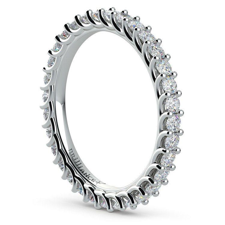 Trellis Diamond Eternity Ring in White Gold | 04