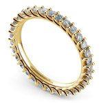 Trellis Diamond Eternity Ring in Yellow Gold | Thumbnail 01