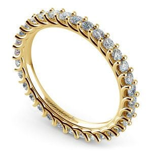 Trellis Diamond Eternity Ring in Yellow Gold