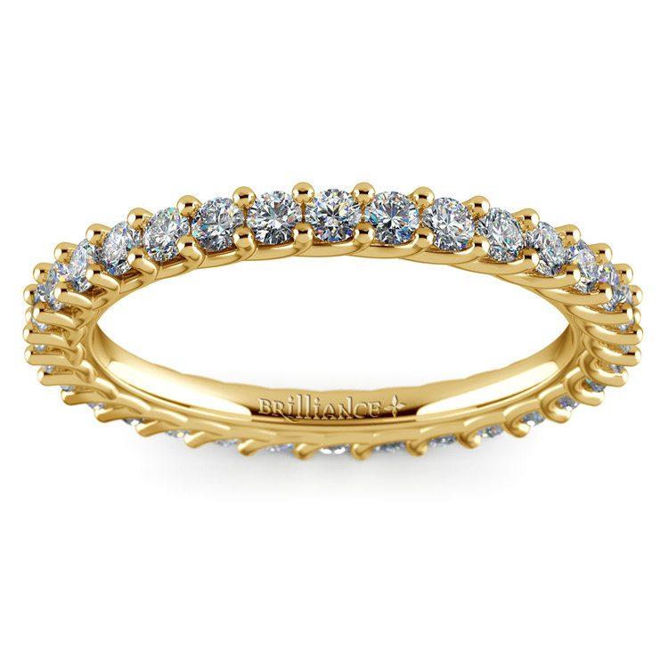 Trellis Diamond Eternity Ring in Yellow Gold | 02
