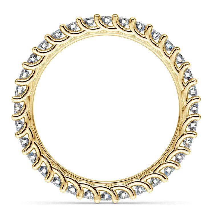 Trellis Diamond Eternity Ring in Yellow Gold | 03