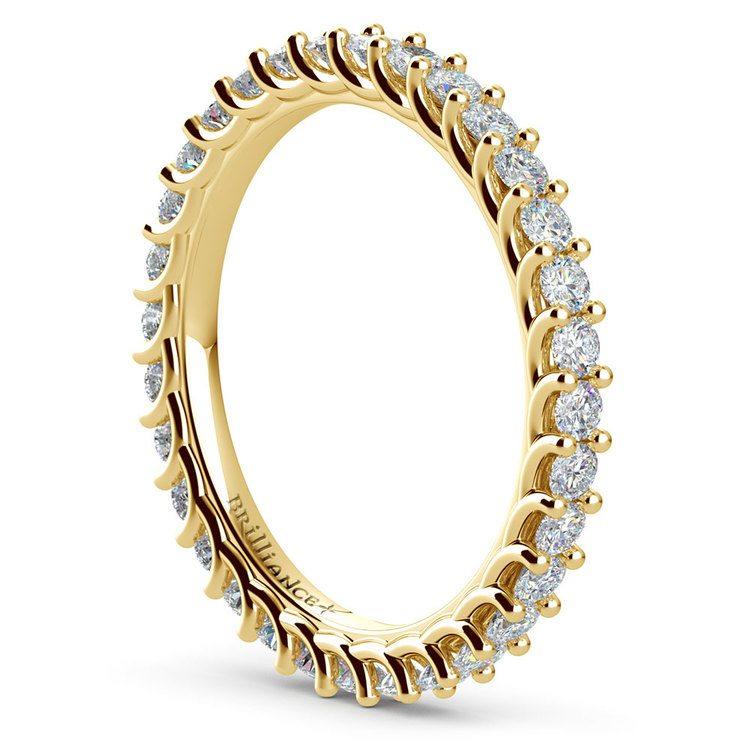 Trellis Diamond Eternity Ring in Yellow Gold | 04
