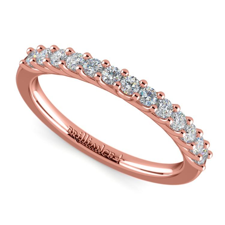Trellis Diamond Wedding Ring in Rose Gold | 01