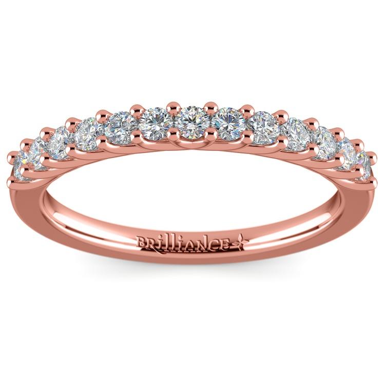 Trellis Diamond Wedding Ring in Rose Gold | 02