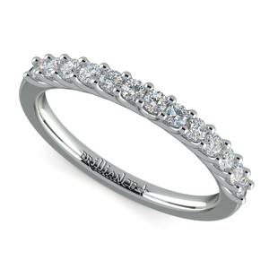 Trellis Diamond Wedding Ring in White Gold