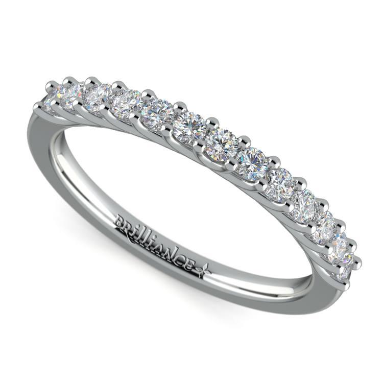 Trellis Diamond Wedding Ring in White Gold | 01