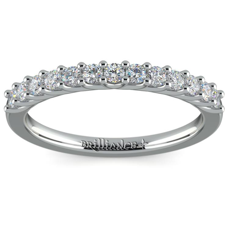 Trellis Diamond Wedding Ring in White Gold | 02