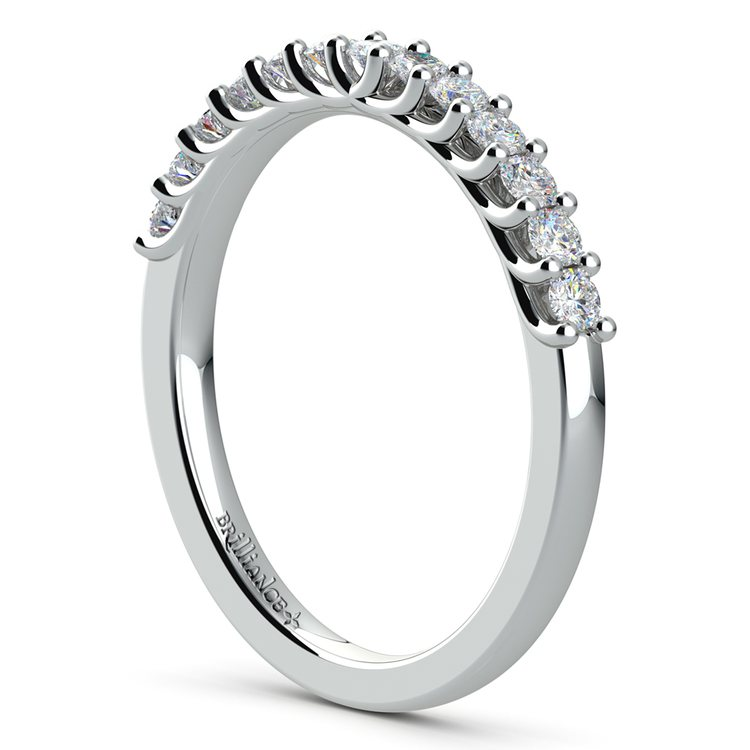 Trellis Diamond Wedding Ring in White Gold | 04