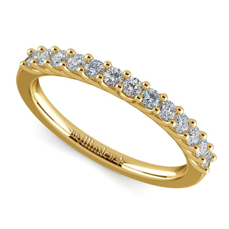 Trellis Diamond Wedding Ring in Yellow Gold   01