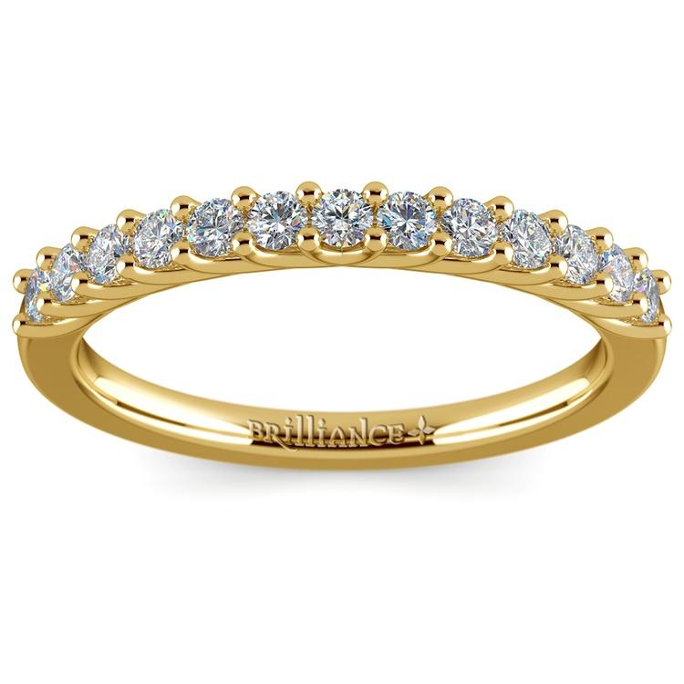 Trellis Diamond Wedding Ring in Yellow Gold   02